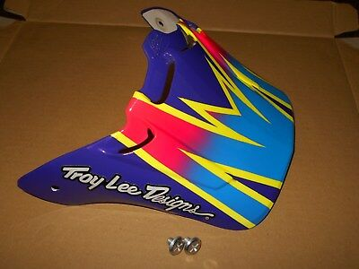* Custom Paint Troy Lee Stingray Visor Damon Bradshaw Vintage Motocross *