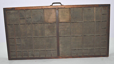Vintage Printer's Letterpress Type Tray/Drawer Shadow Box Full Size Lower Case