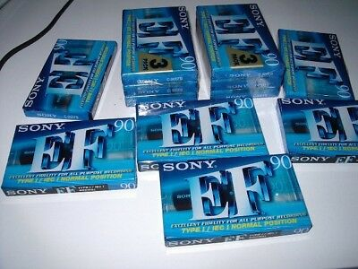 Sony EF 90 Blank Tapes (x12) NEW UNUSED