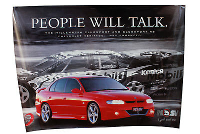 Large HSV VT Clubsport Poster People Will Talk Holden Special Vehicles Genuine