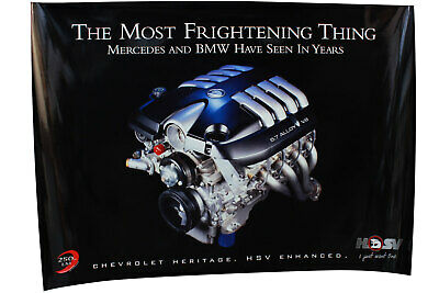 Large HSV 5.7 Litre LS1 V8 Poster Gen III Chevrolet Holden Special Vehicles