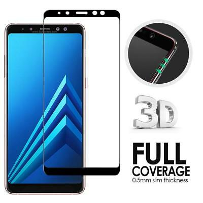 Full Coverage Tempered Glass Screen Protector For Samsung Galaxy A6 A7 A8+ 2018