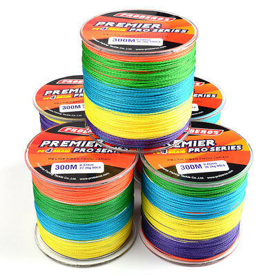 100% Spectra Braid Fishing Line 15 35 60 80 100LB Color 300M 500M 1000M