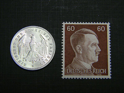 Authentic AH Stamp WW2 and Antique German 200 Mark Coin