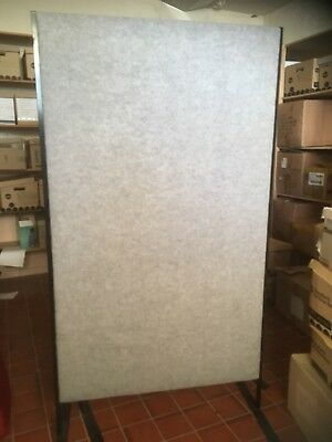 2 x Office Partitions / Dividers Freestanding Grey padded