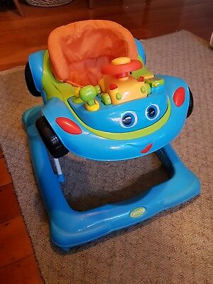 4baby baby walker car with toy tray steering wheel phone horn