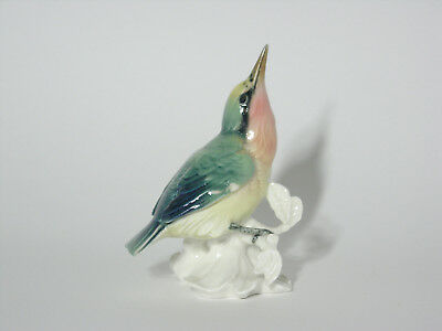 Antique Karl Ens Hand Painted Porcelain Bird Figurine -  Nuthatch