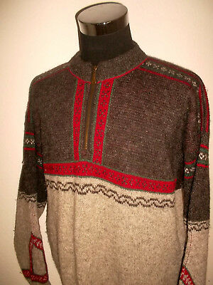 NORWOOL Norweger Pulli Strickpullover Wolle wool pullover norway vintage L