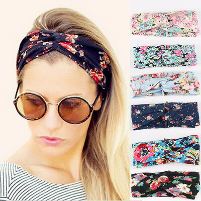 Fashion Women Turban Twist Knot Head Wrap Headband Twisted Knotted Hair Band UK