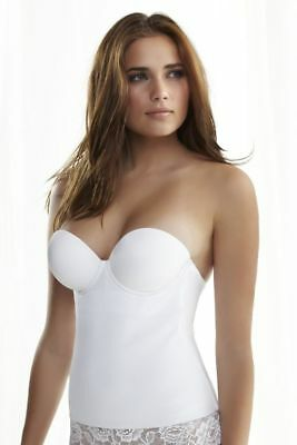 Used Once! Size 42B White Felina For David's Bridal Lightweight Seamless Bustier