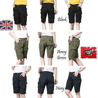 Women's Military Combat Short Girls Cargo Pants Ladies Cargo Twill Short UK 6-16