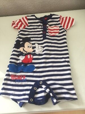Baby Boy 6-9months Romper Disney Mickey Mouse In Very Good Used Condition
