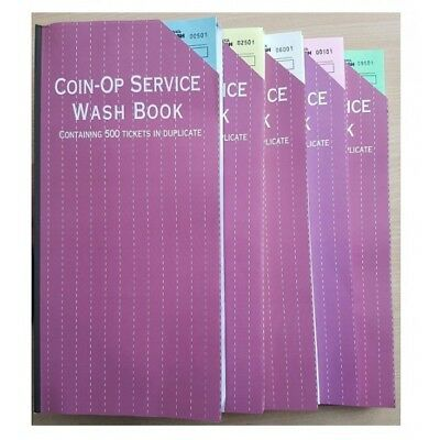 Laundry Service Ticket Book, Wash Book, 500 Tickets All Colours Dry Cleaning