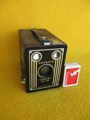 Vintage Kodak Box Browie Target Six - 20 Camera Eastman Usa Photo Man Cave Old