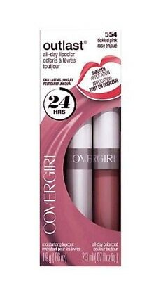 Covergirl Outlast 24Hr All Day Lipcolor - #554 Tickled Pink - New