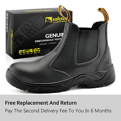 Safetoe Safety Work Boots Mens Shoes Steel Toe Water Resistant Slip on M-8025 US