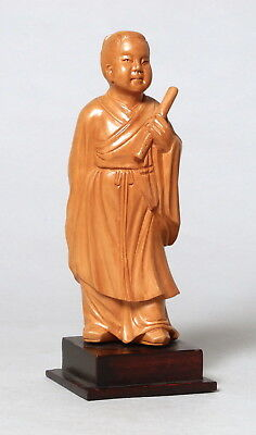Beautiful Vintage Chinese Carved Boxwood Wooden Figure Young Child #7