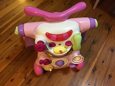 Bruin by Toys 'R Us 2in1 Baby Walker and Ride On Activity Centre Pink and purple