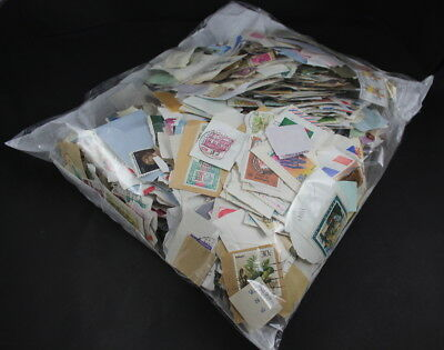 Worldwide Stamps on Paper 1980-1992 Good Mix 500g