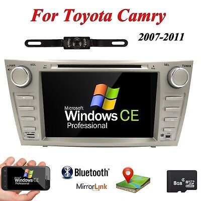 "Reverse Camera+8""Car DVD GPS Stereo Head Unit for Toyota Camry Aurion 2007-2011"