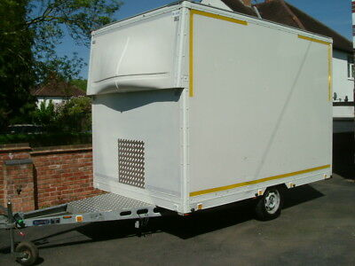 Box Trailer Catering Race Workshop Karting Motorcycle Quad Market Car Boot Ramp