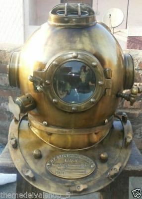 Antique Scuba SCA Divers Diving Helmet US Navy Mark V Deep Sea Full Size Marine