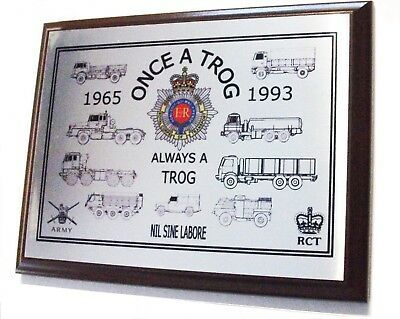 Royal Corps Of Transport Plaque British Armed Forces Rct Rlc Trog Rasc Medium