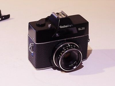Rolleiflex Sl26 Slr For 126 Cartridge Film With F2.8/40 Mm Zeiss Tessar Lens