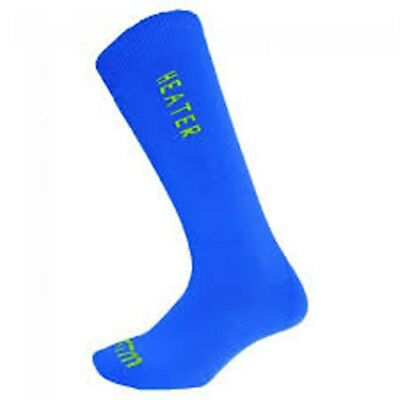 XTM Heater Winter Snow Socks ADULT - Mens & Womens FRENCH BLUE Adult 2-8