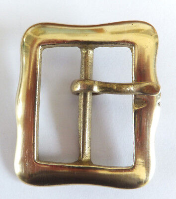 "RE ENACTMENT Solid Cast Brass Full Belt Buckle 1-1/4""  or  32 mm BS 1"