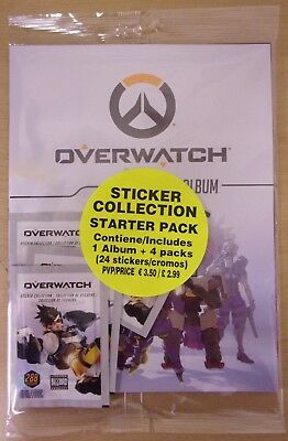 Overwatch ~ Sticker Collection Starter Pack ~ Includes 24 Stickers