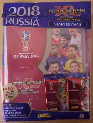 Fifa World Cup Russia 2018 ~ Panini Adrenalyn XL ~ Starter Pack