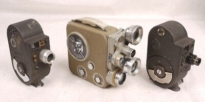 Eumig C3R/Bell & Howell 134-A & Filmo Sportster - 8mm Movie Camera Lot