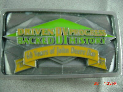 John Deere Day Pewter Belt Buckle 60 Years 1937 - 1997 Driven By JD Collectible