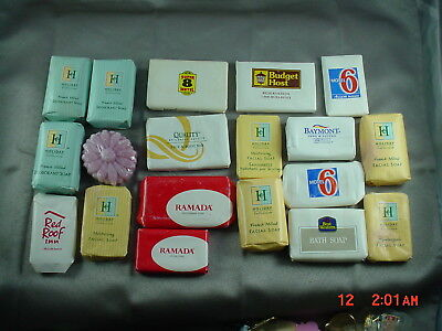 Vintage Hotel Motel Mini Bar Soap Lot of 19