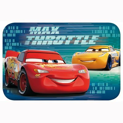 DISNEY CARS LIGHTNING MCQUEEN FLOOR MAT KIDS BOYS BEDROOM 40cm x 60cm