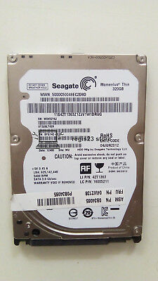 "Faulty Seagate Momentus Thin ST320LT020 320GB 5400RPM 2.5"" HDD Hard Disk Drive"