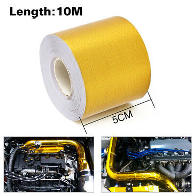 """Adhesive Reflective Gold High Temperature Heat Shield Pipe Wrap Tape 2""""x33ft"""