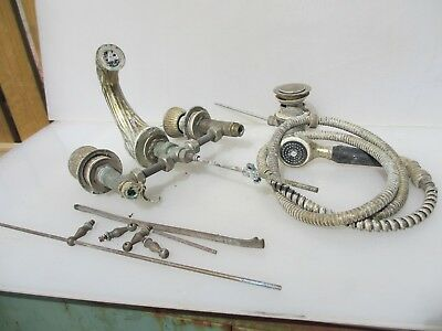 Vintage French Brass Tap Mixer Taps Beading Gilt Ornate Spout Old Antique Shower