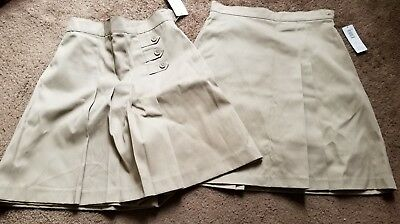 Girl's Plus! Khaki Skort Lot! Size 20! New! NWT! Uniform!