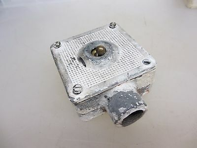 "Vintage Iron Light Switch Industrial Factory Art Deco ""Simplex"" Antiques Steel"