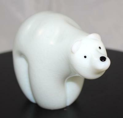 Glass Polar Bear Statuette - Orient & Flume - New From Gallery - (6086-061)