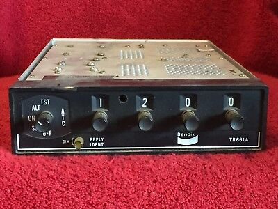 Bendix Tr-661A Atc Transponder P/n 4000526-6103 With Tray And Connector