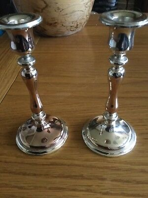 Pair of vintage/antique WMF candlesticks in good condition for age