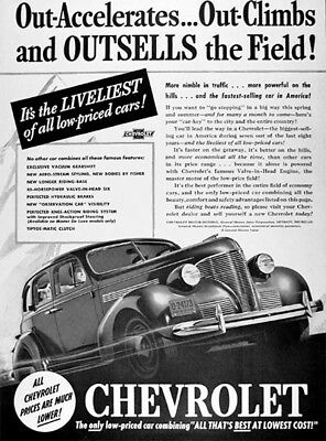 1939 CHEVROLET MASTER DELUXE Genuine Advertisement ~ OUTSELLS AD