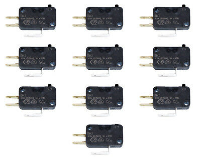 """10 Pack of Cherry 75g .187"""" D44X Microswitch For Arcade Joysticks & Push Buttons"""
