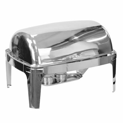 Roll Top Chafing Dish Full Size 8 ltr Capacity Stainless Steel. Low Price