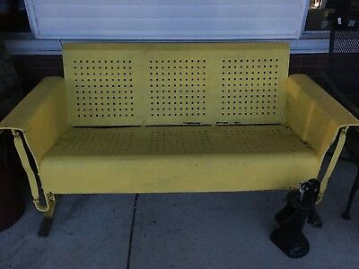 Vintage Metal Porch Glider