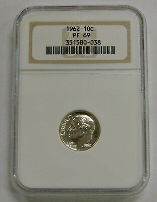 1962 - Proof Silver Roosevelt Dime - NGC PF 69