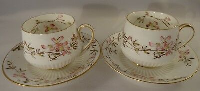 2 Antique George Jones & Sons Crescent China  Cups & Saucers Pattern 9127 c1890
